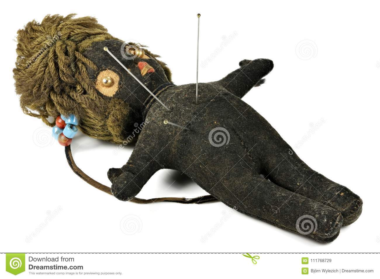 Voodoo doll stock image  Image of used, horror, symbol