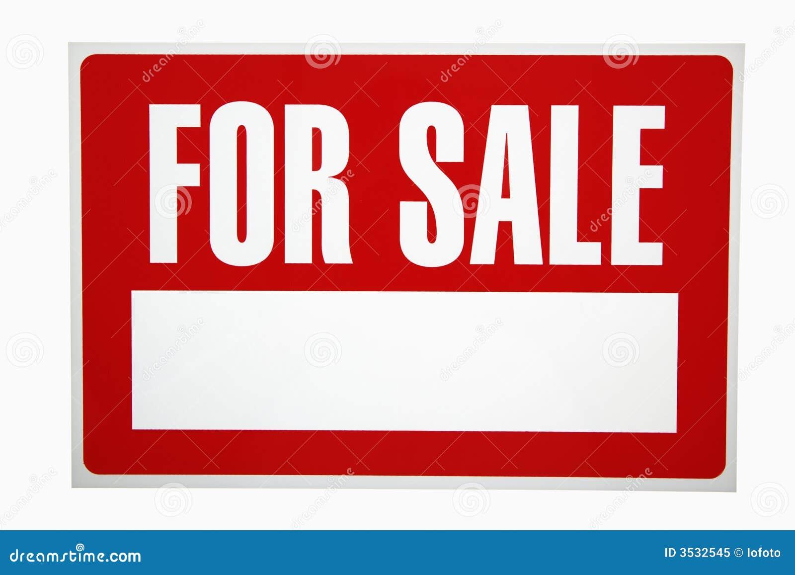 Voor verkoopteken.