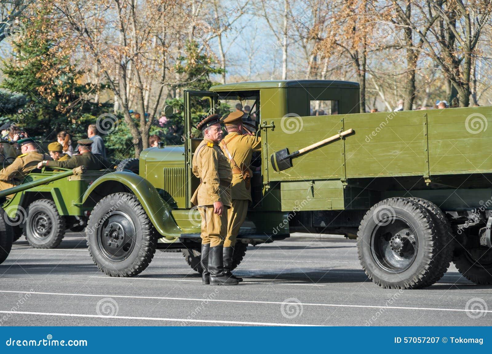 Voorbereiding voor parade