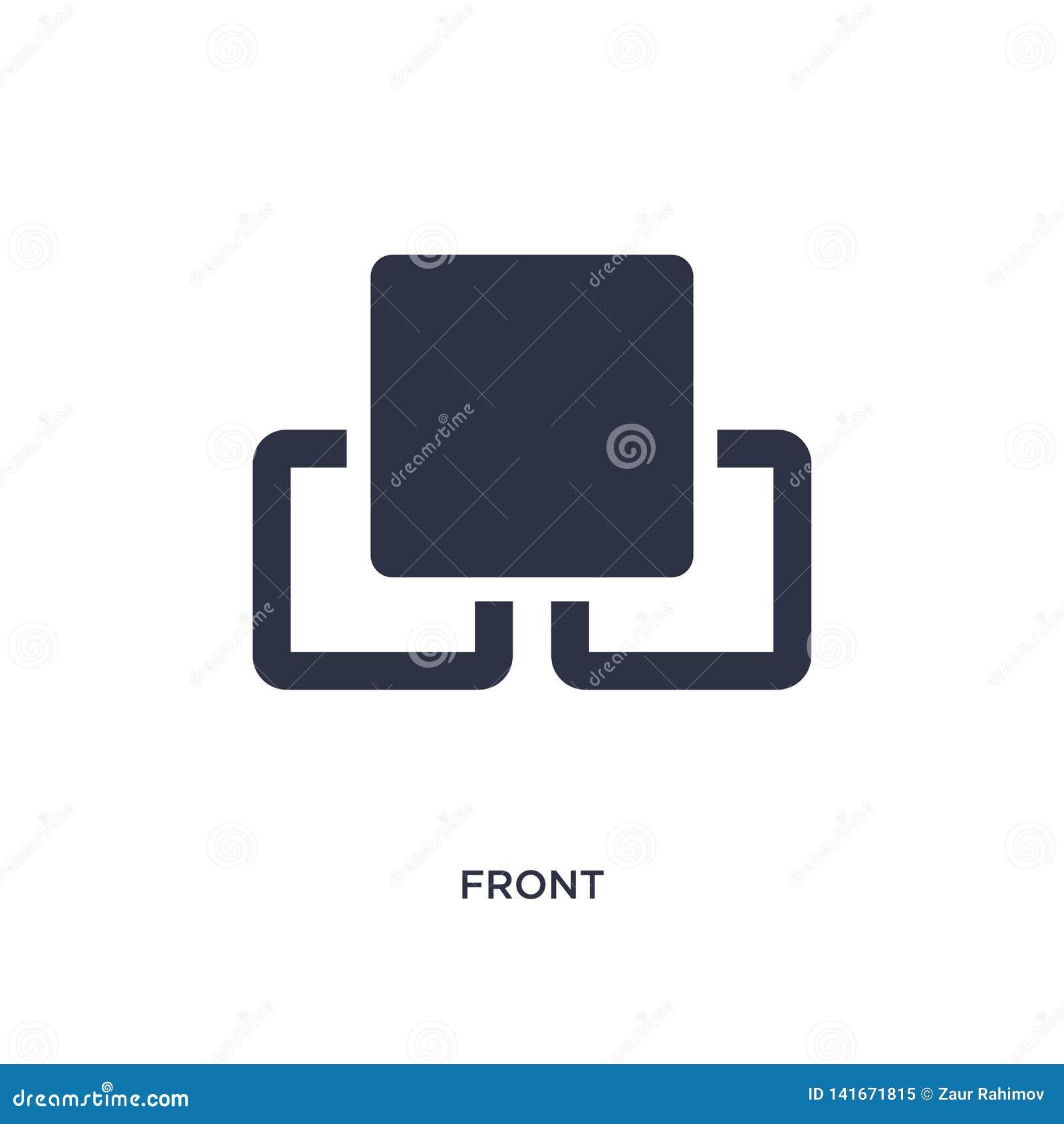 Voorpictogram op witte achtergrond Eenvoudige elementenillustratie van meetkundeconcept