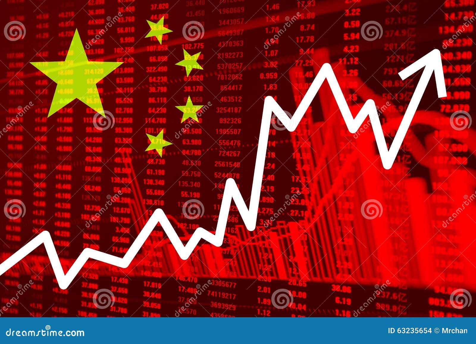 Voorraaddiagram met Vlag van China