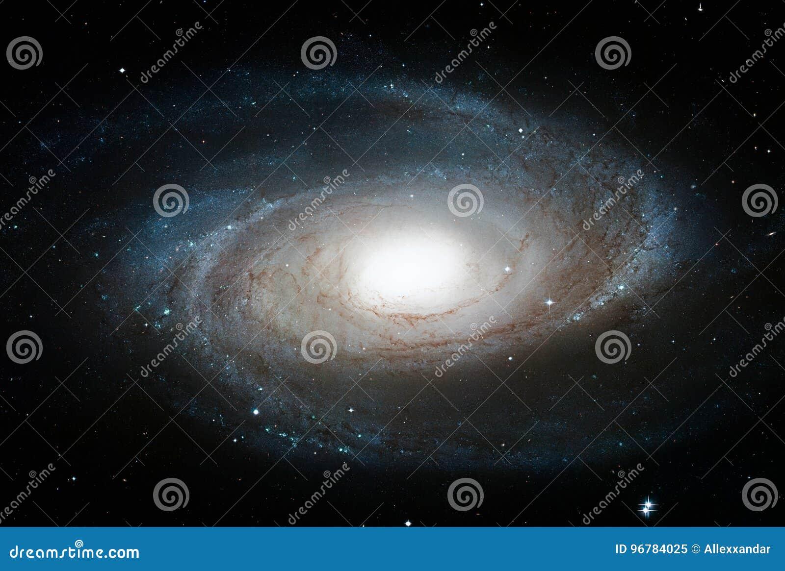 Voorspel de Melkweg van ` s, M81, Spiraalvormige melkweg in de constellatie Ursa Major