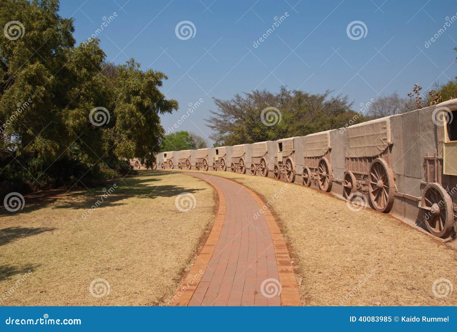 Voortrekker纪念碑的无盖货车墙壁