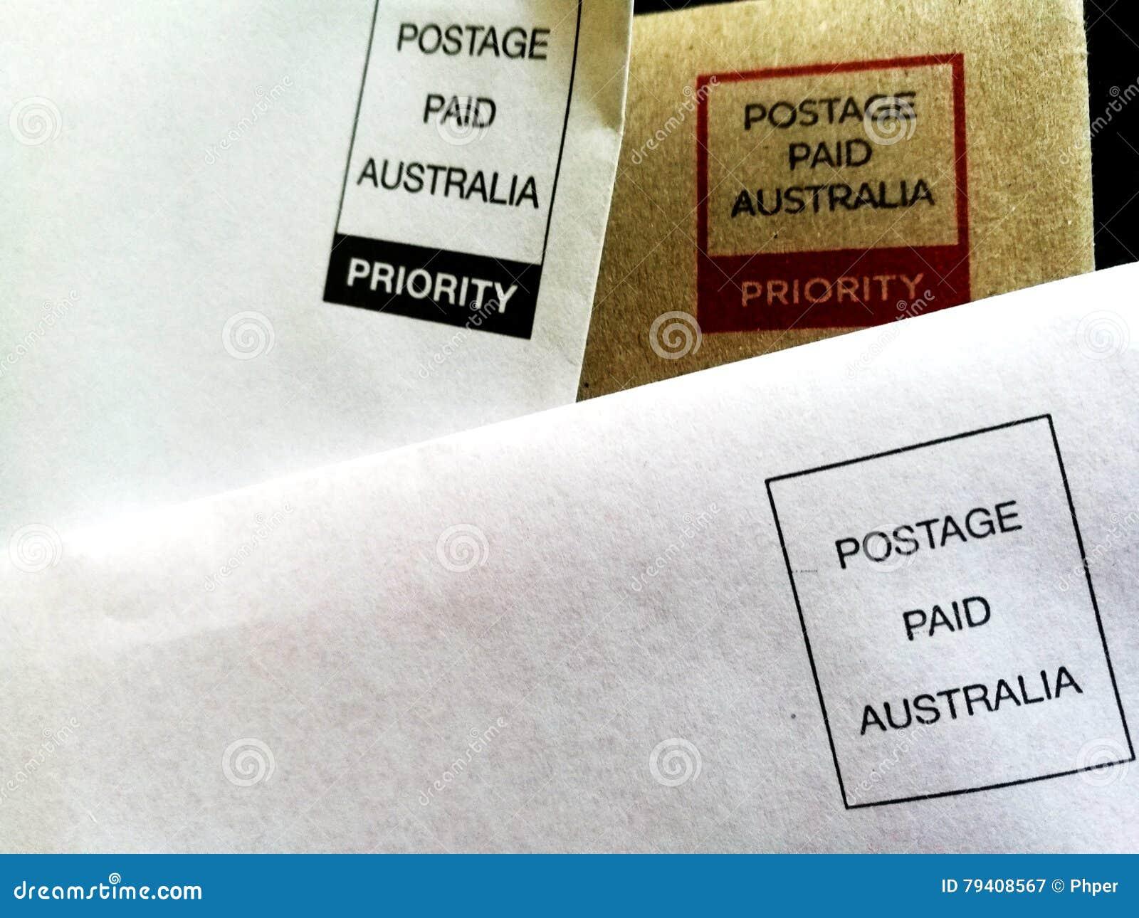 Vooruitbetaalde Enveloppen - Port Betaald Australië