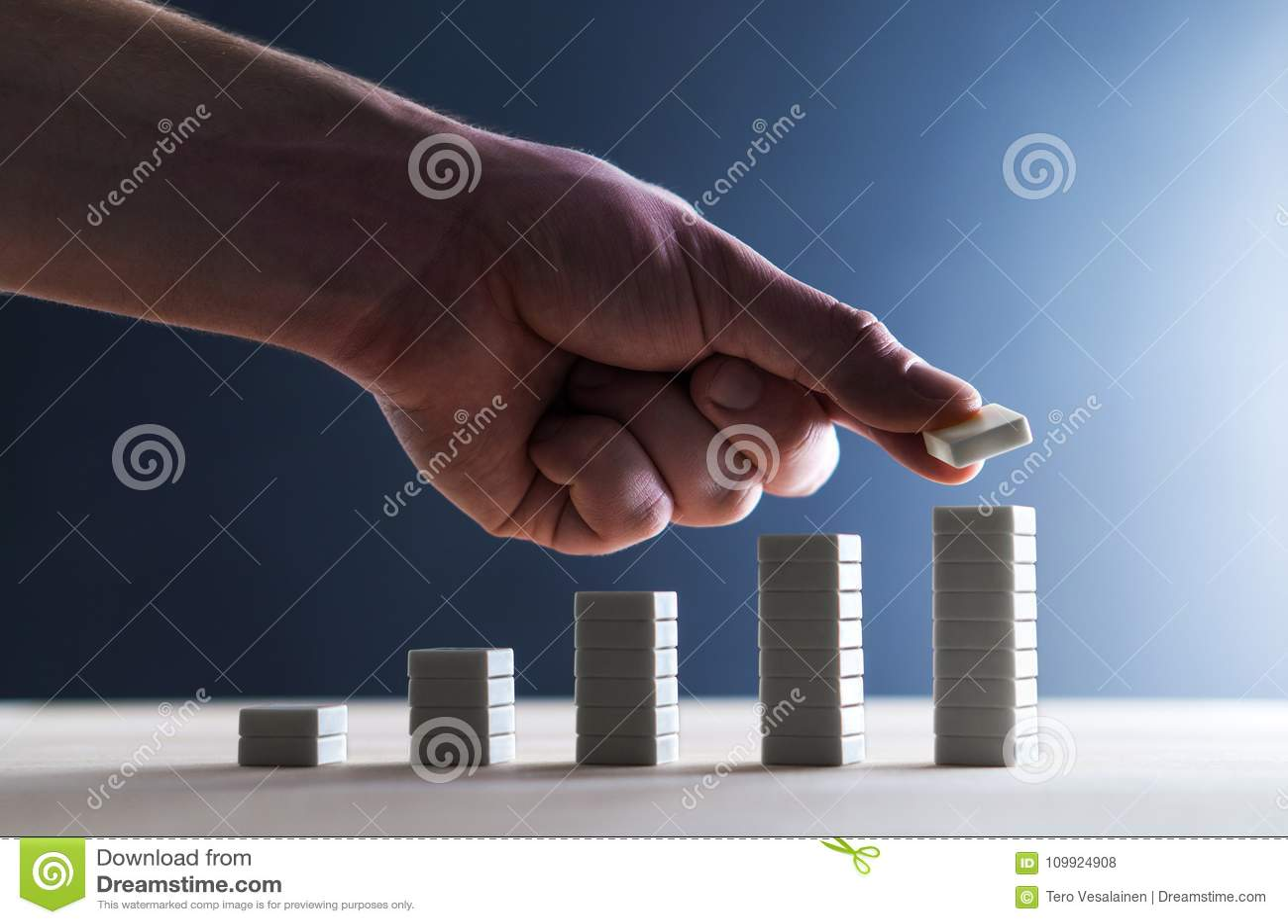 Vooruitgang, planningsstrategie, stijging van verkoop of succes