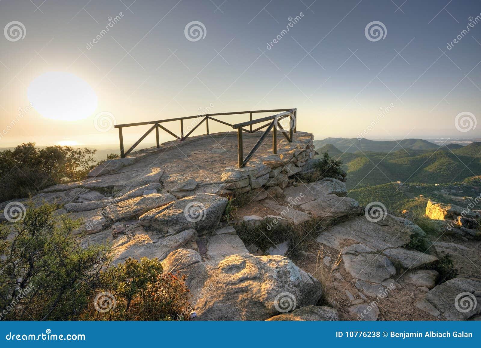 Vooruitzicht in berg