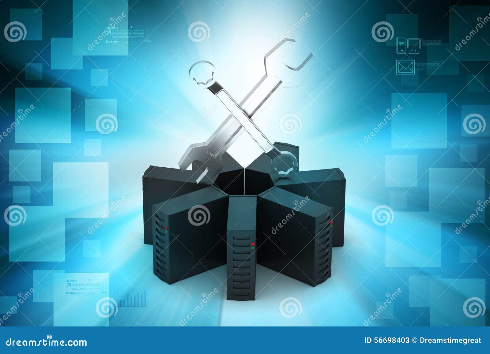 Voorzien van een netwerk en communicatie concept stock illustratie afbeelding 56698403 - Een wasruimte voorzien ...