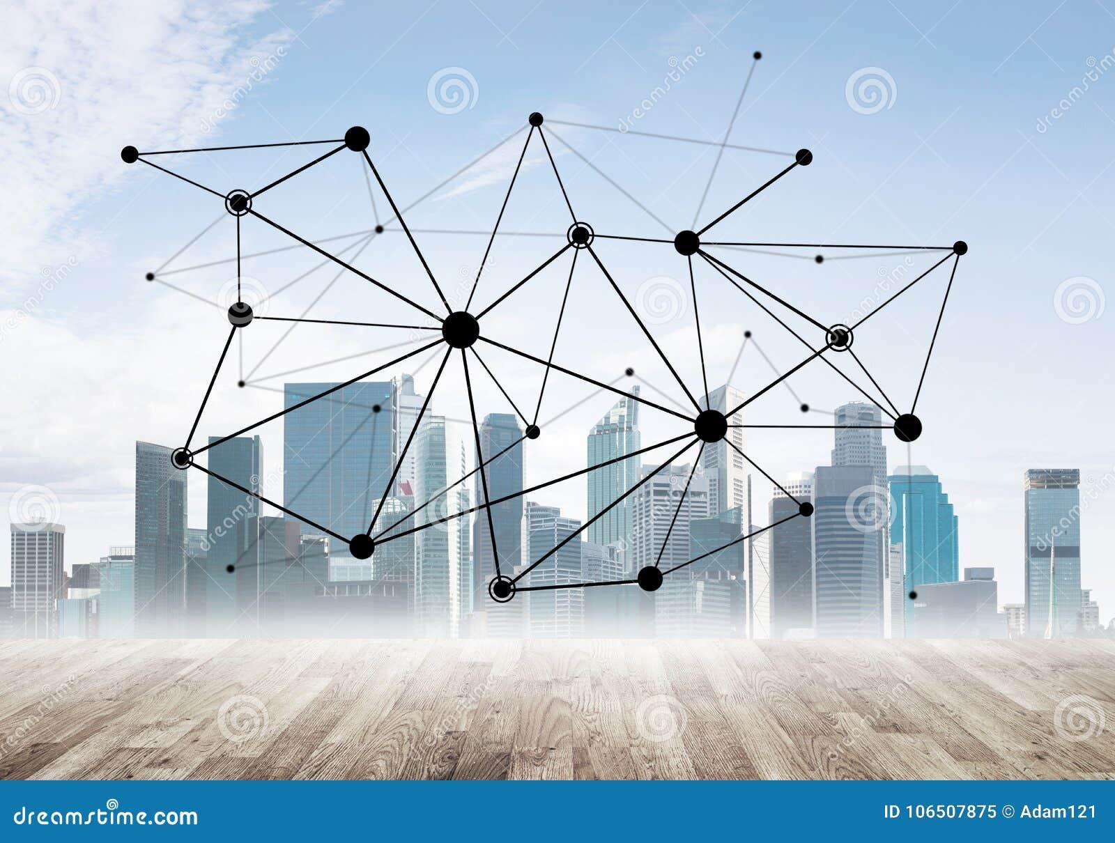 Voorzien van een netwerk en sociale mededeling als middelen voor efficiënte bedrijfsstrategie