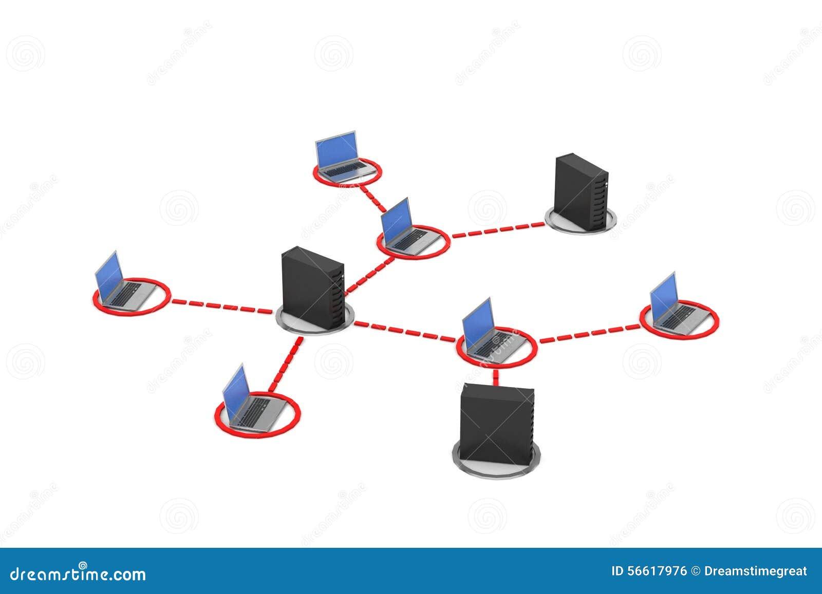 Voorzien van een netwerk met server stock illustratie afbeelding 56617976 - Een wasruimte voorzien ...