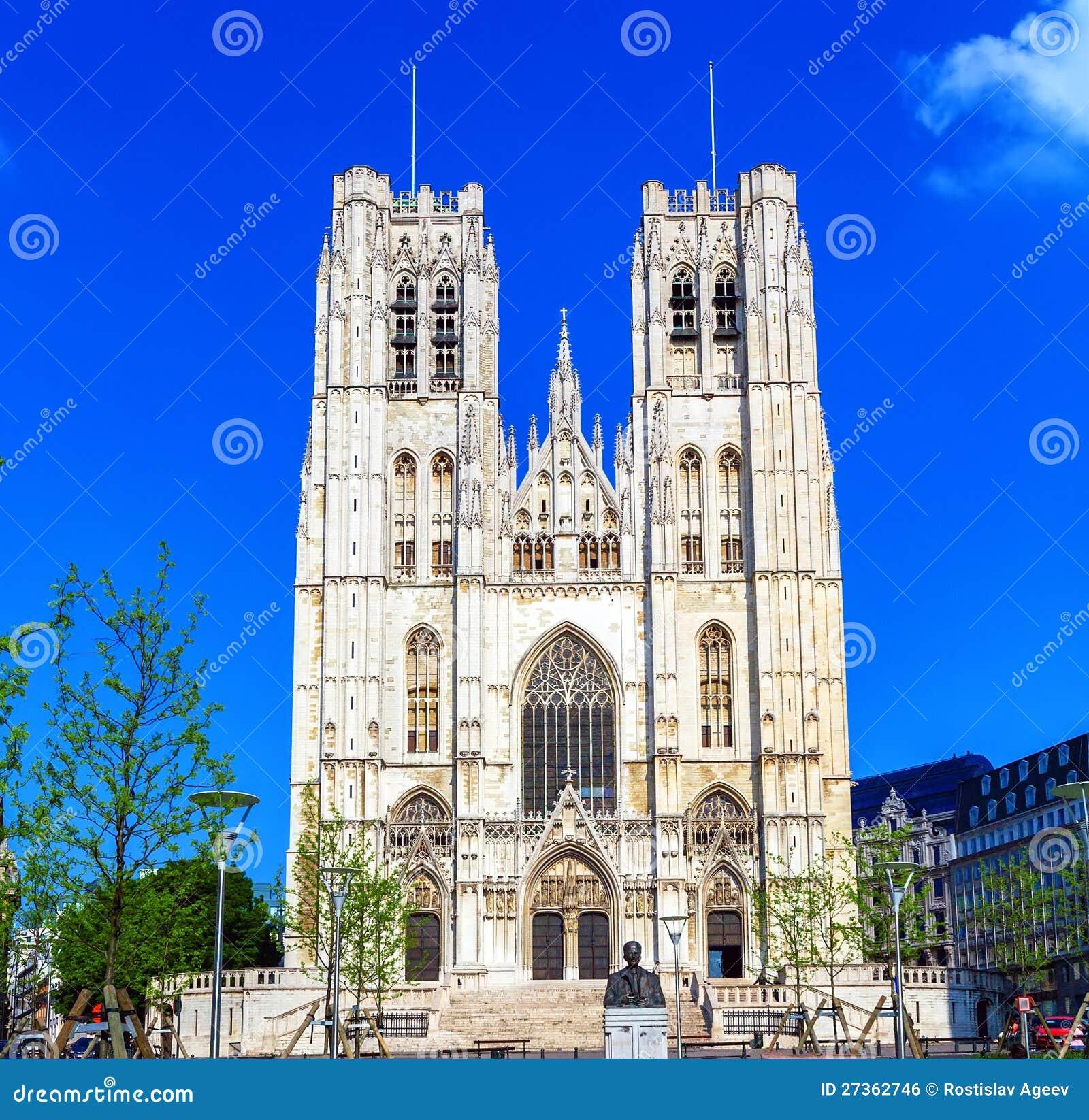 Voorzijde van Gotische Carhedral, Brussel