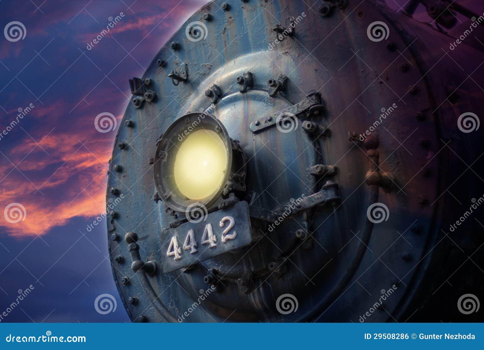 Voorzijde van locomotief