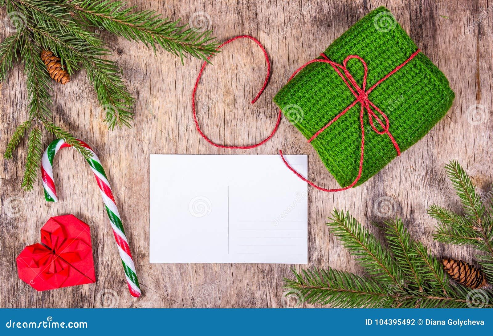 Vorbereiten Für Weihnachten Leere Postkarte, Ingwerkeks Und ...