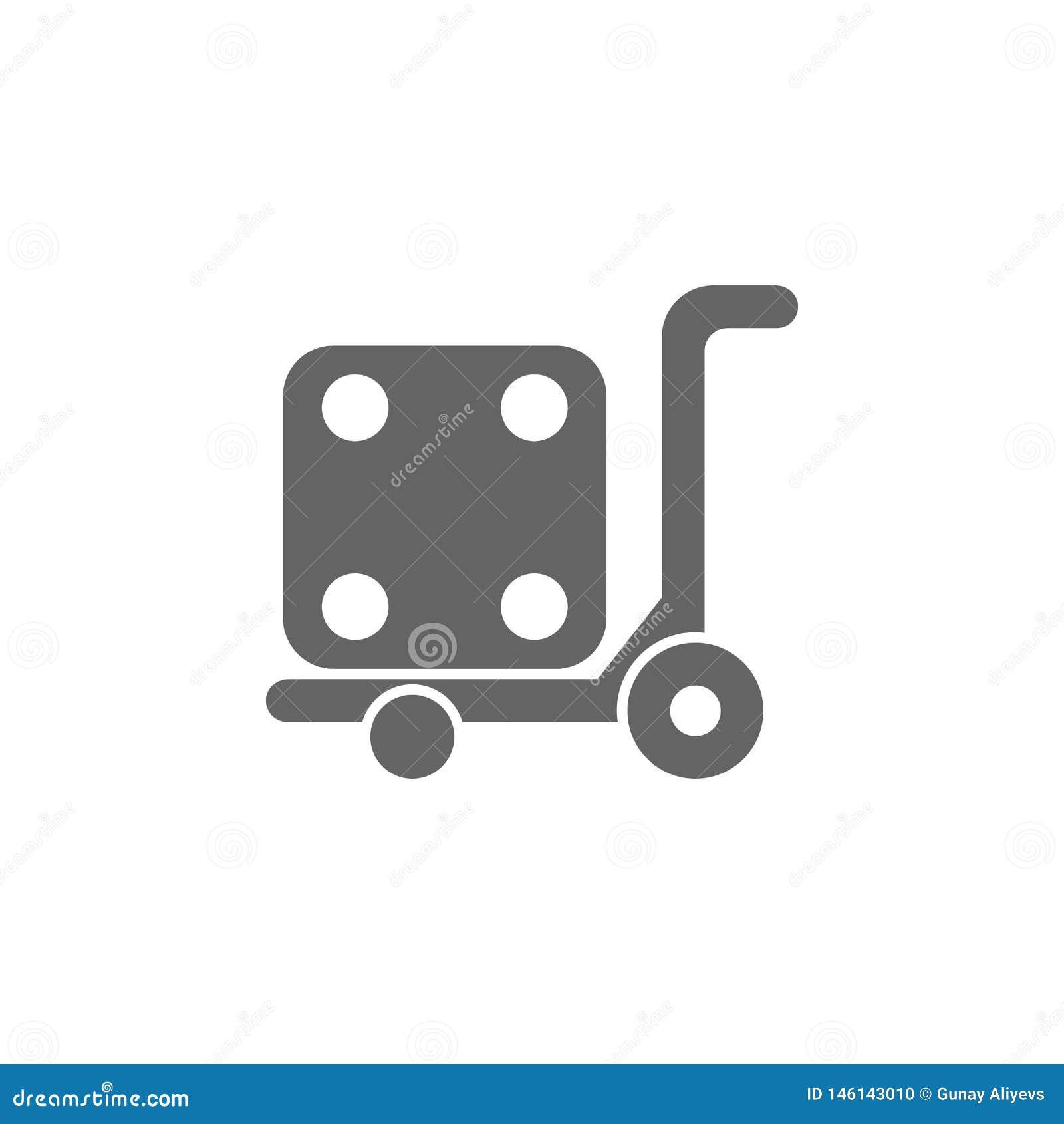 Vorkheftruck, logistisch, het pictogram van de pompvrachtwagen Element van eenvoudig vervoerpictogram Grafisch het ontwerppictogr