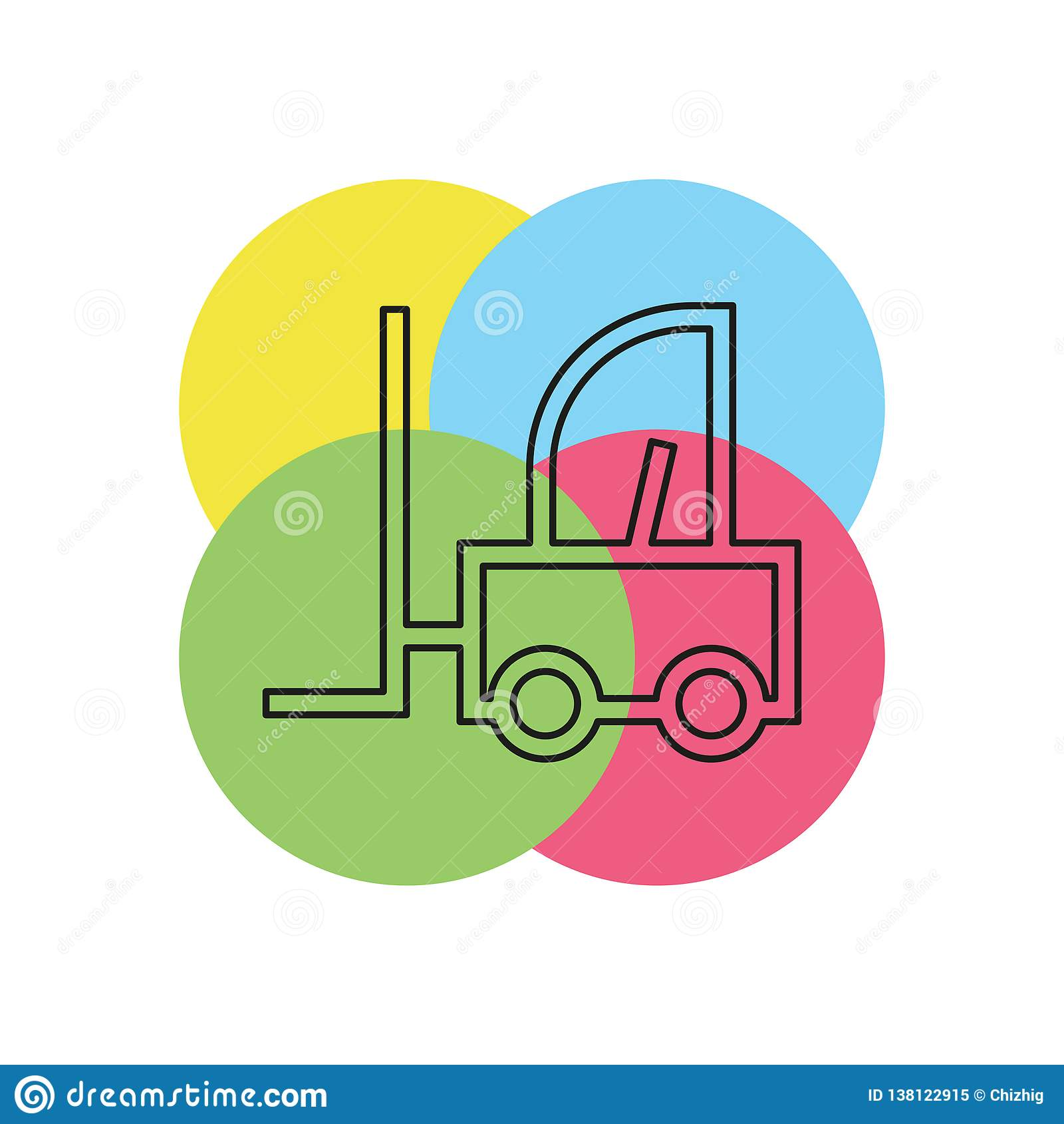 Vorkheftruck vectorpictogram