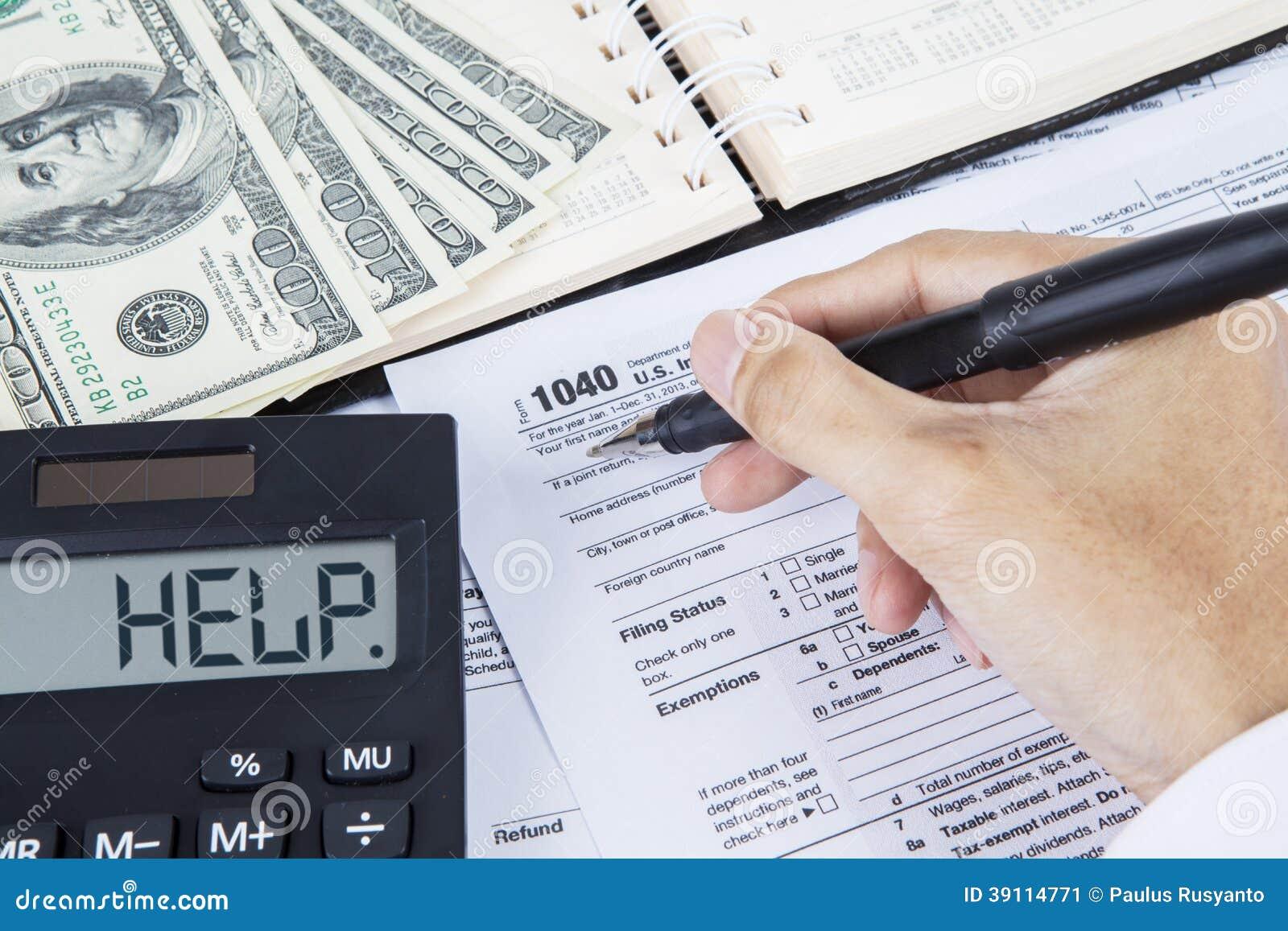 Vorm van de zakenman de vullende belasting