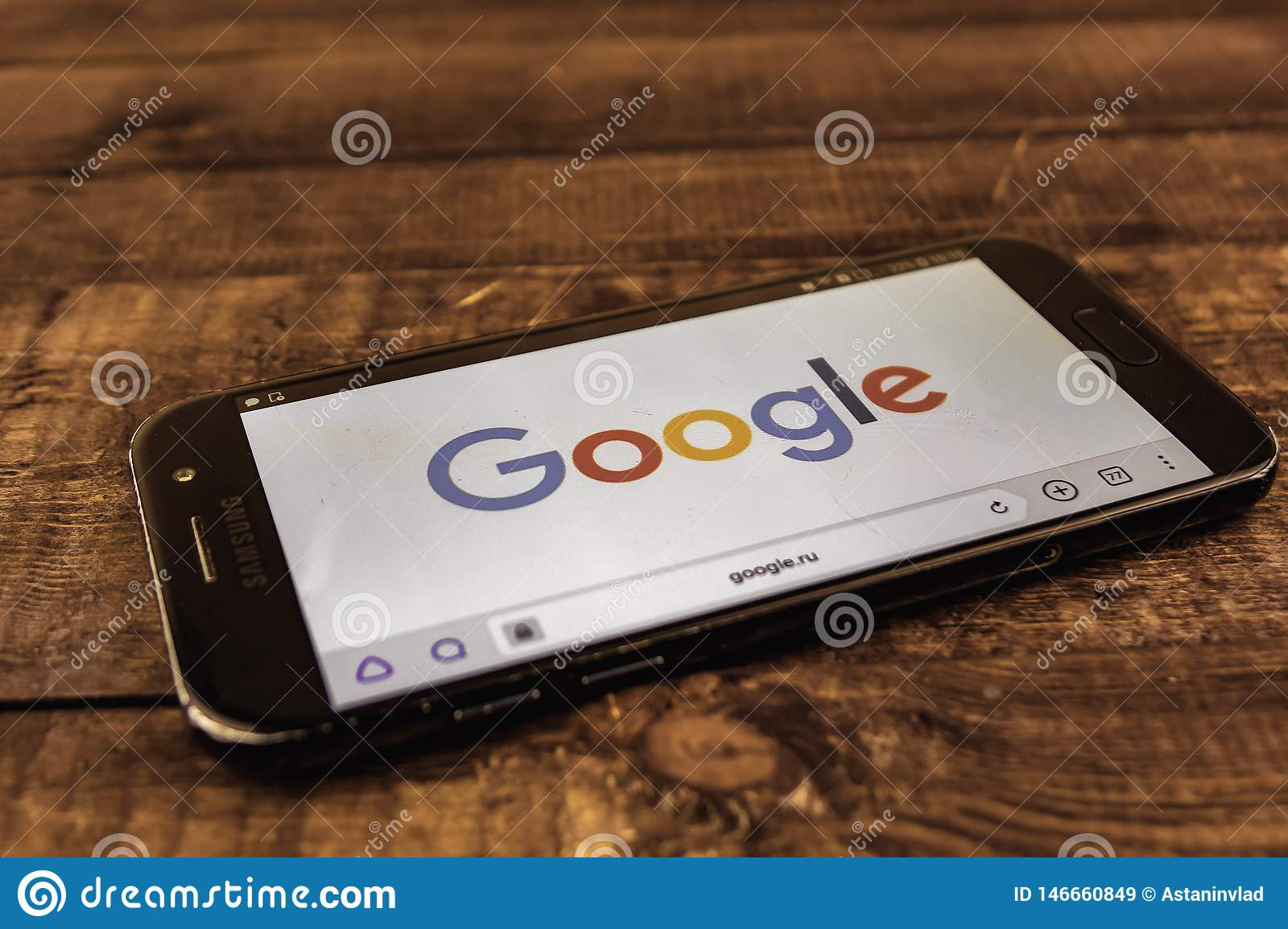 Voronezh. Russian Federation - may 3, 2019: Google logo on smartphone screen. Google is an American technology and online services