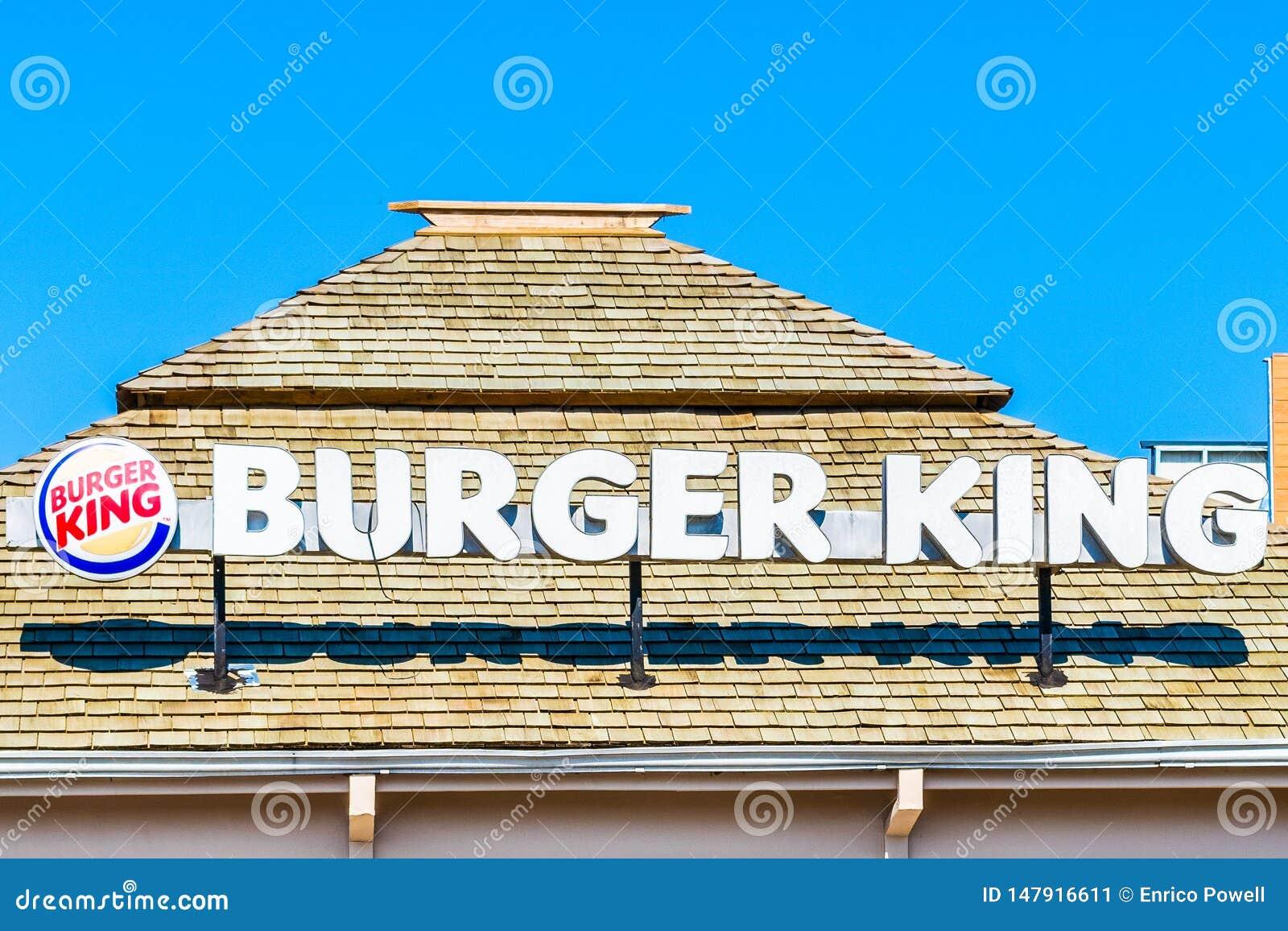 Vorrechtniederlassung Negril Jamaika der amerikanischen Fast-Food-Kette Burger King, ein Lieblingsschnellrestaurant unter Jamaica