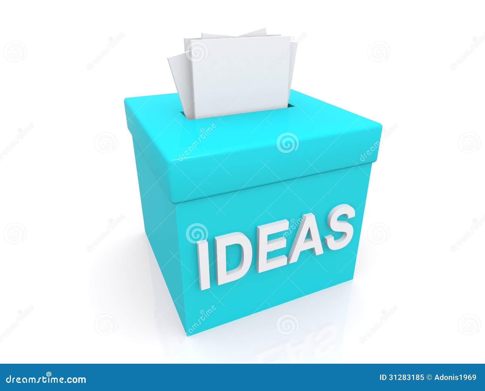 vorschl ge im ideenkasten stock abbildung bild von. Black Bedroom Furniture Sets. Home Design Ideas