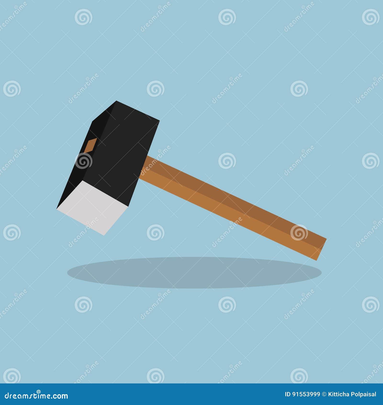 vorschlaghammer, hammer, werkzeug, hammer vektor abbildung