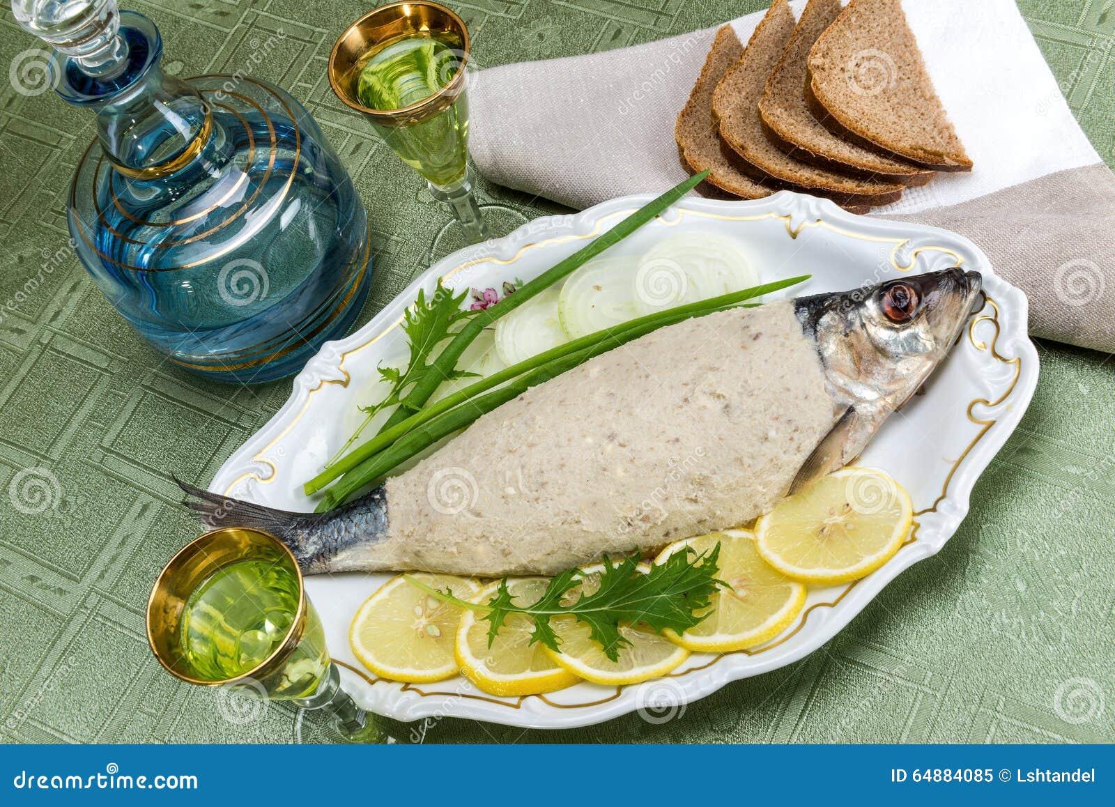 Vorschmack chopped fish chopped herring stock image for Jewish fish dish