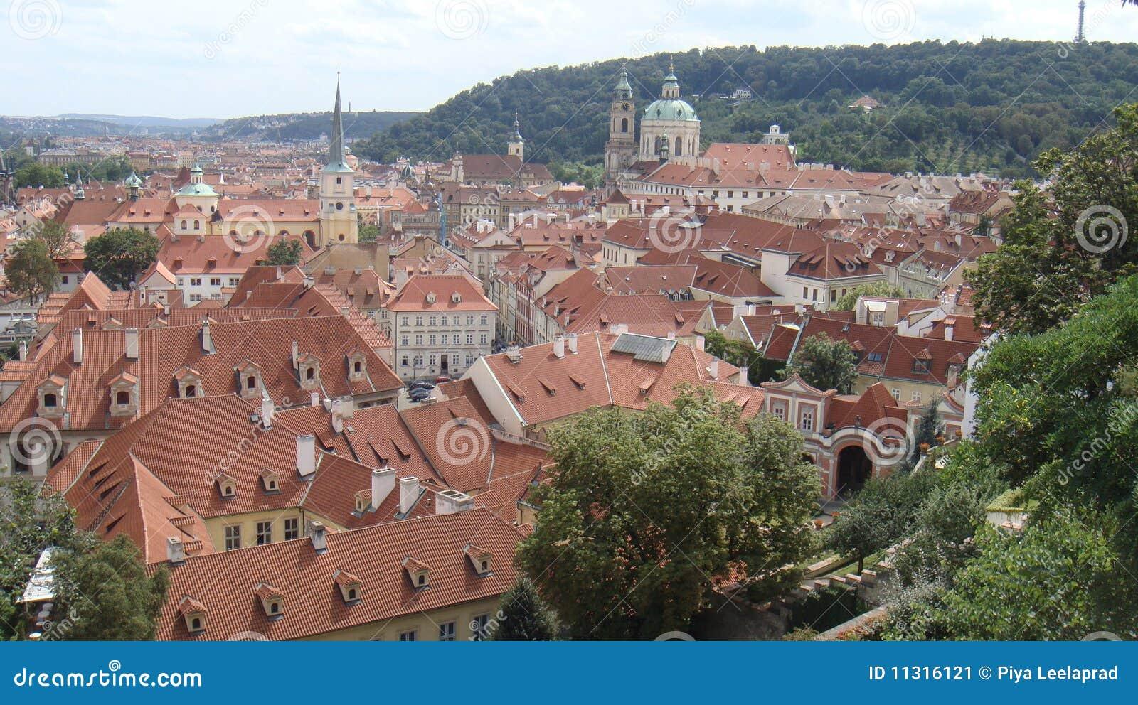 Vorstadtbereich von Prag