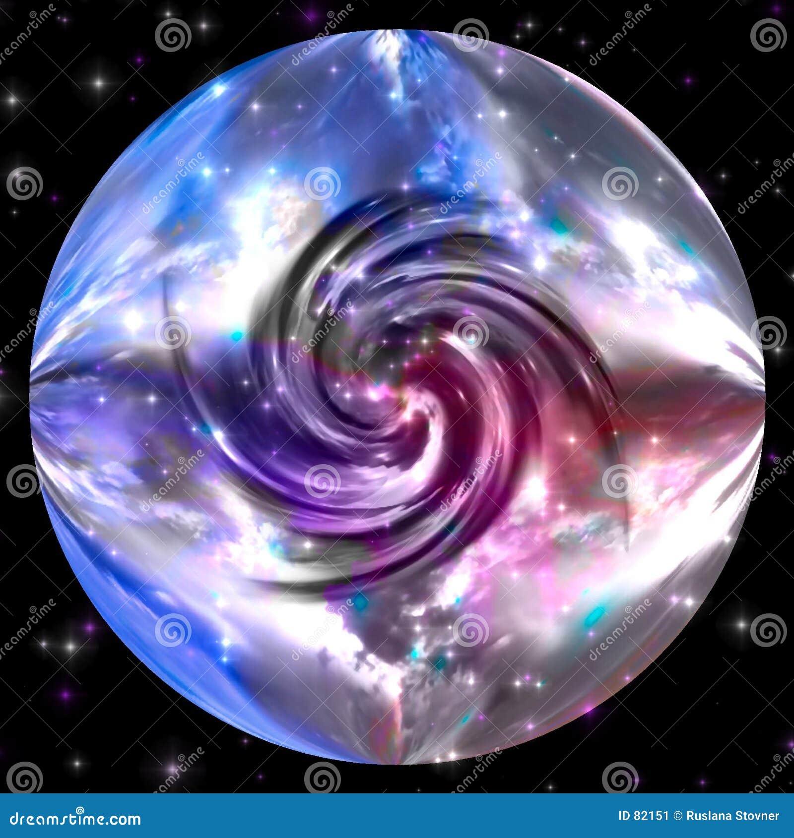 Vortex de la planète de marbre