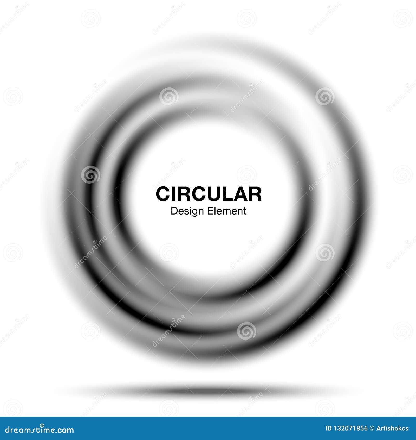 Vortex Gradient Round Banner  Abstract Gray Swirl Circle