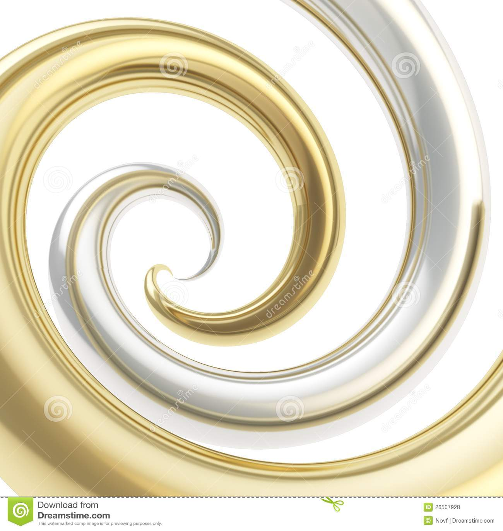 Vortex Twirled da câmara de ar da curva como o fundo abstrato