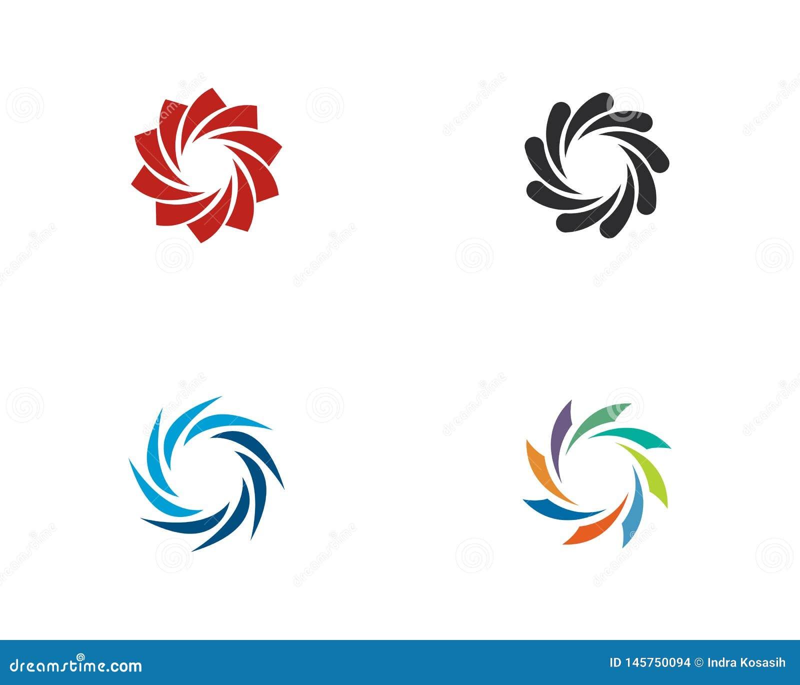 Vortex vector illustration icon Logo Template