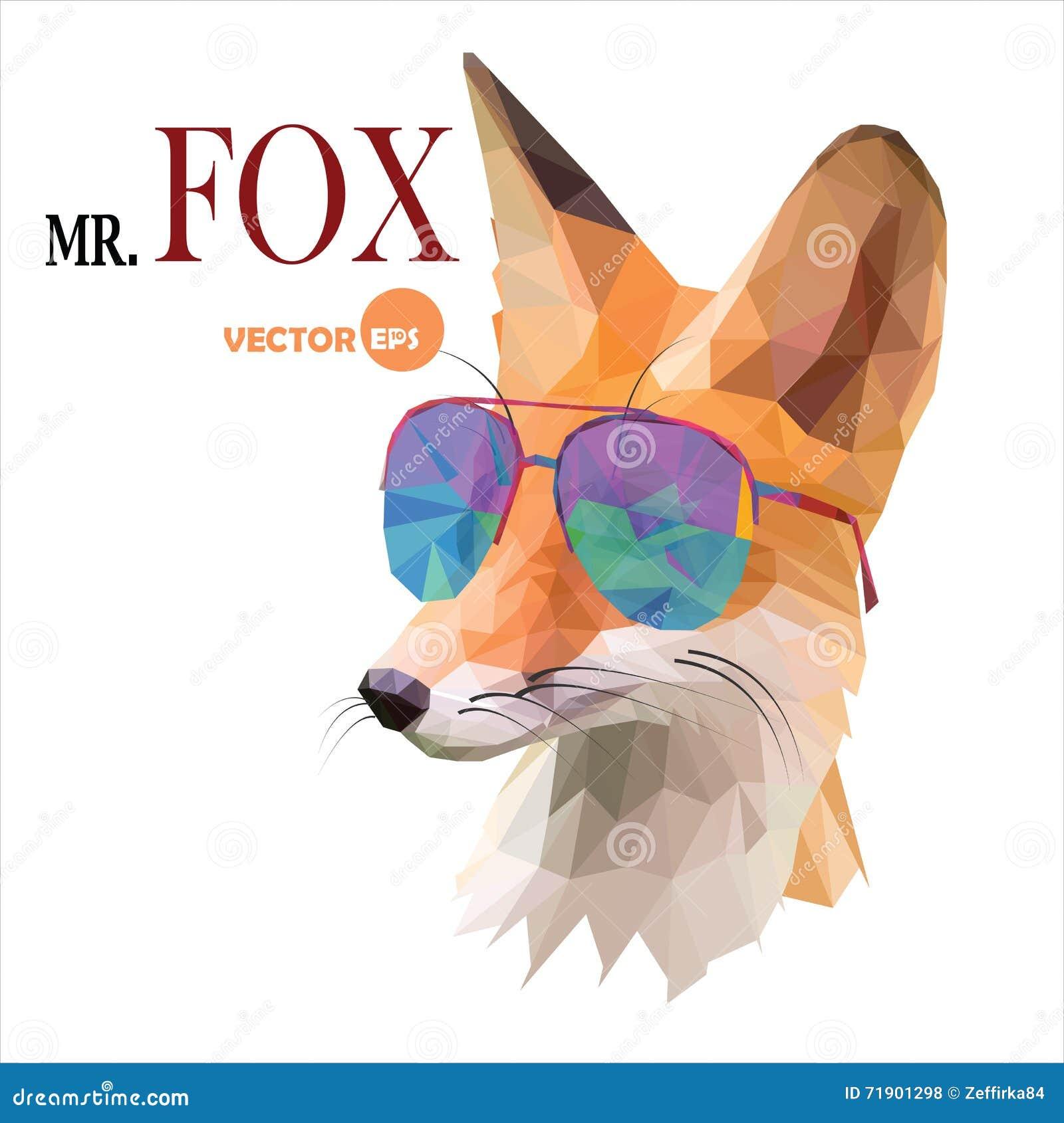 Vosmens, M. De vos in zonnebril, stedelijke stadsstijl, hipster kijkt close-up van het manier het dierlijke portret op de witte a