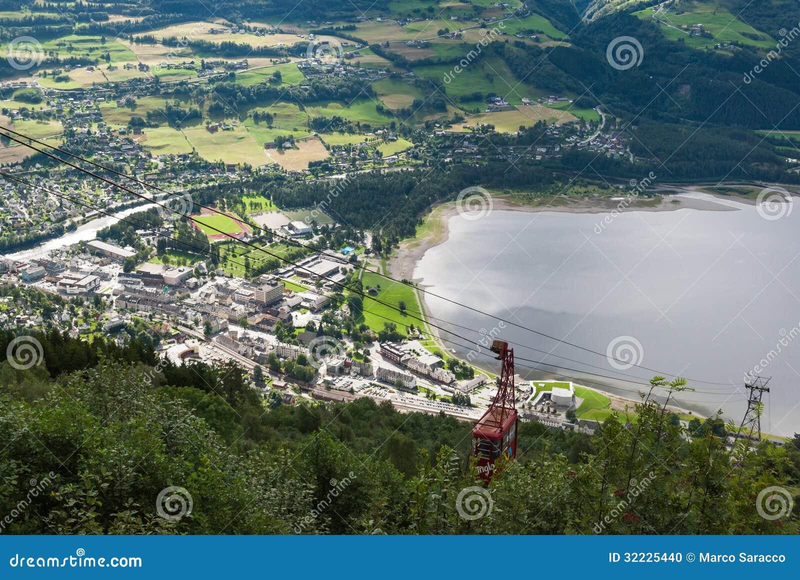 Download Voss, Noruega foto de stock. Imagem de paisagem, lago - 32225440