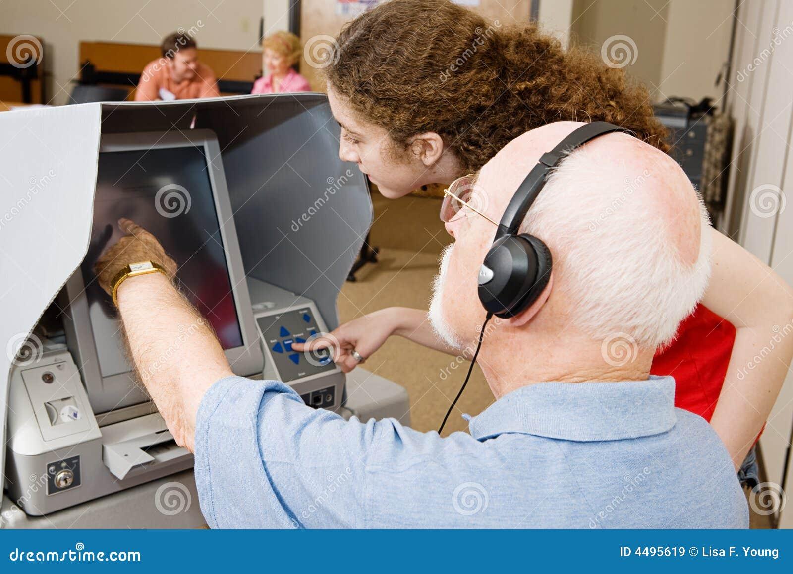 Votante y trabajador de la encuesta
