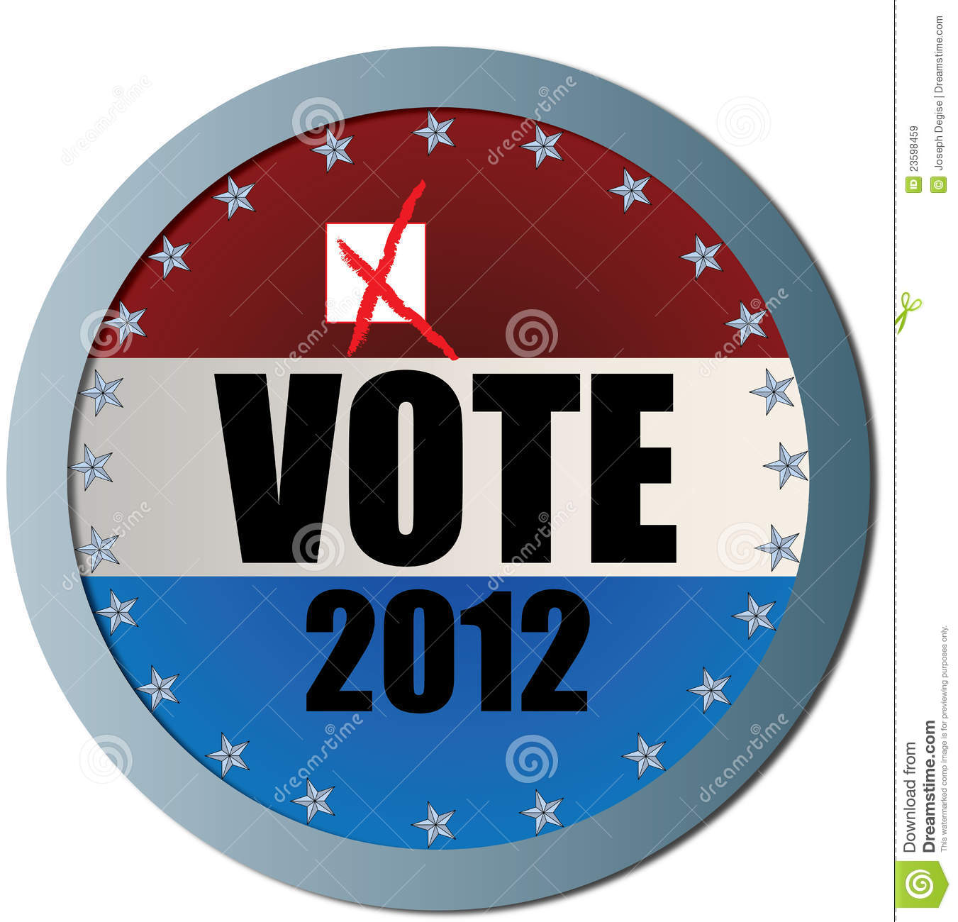 Vote 2012 Web Button Royalty Free Stock Images - Image ...