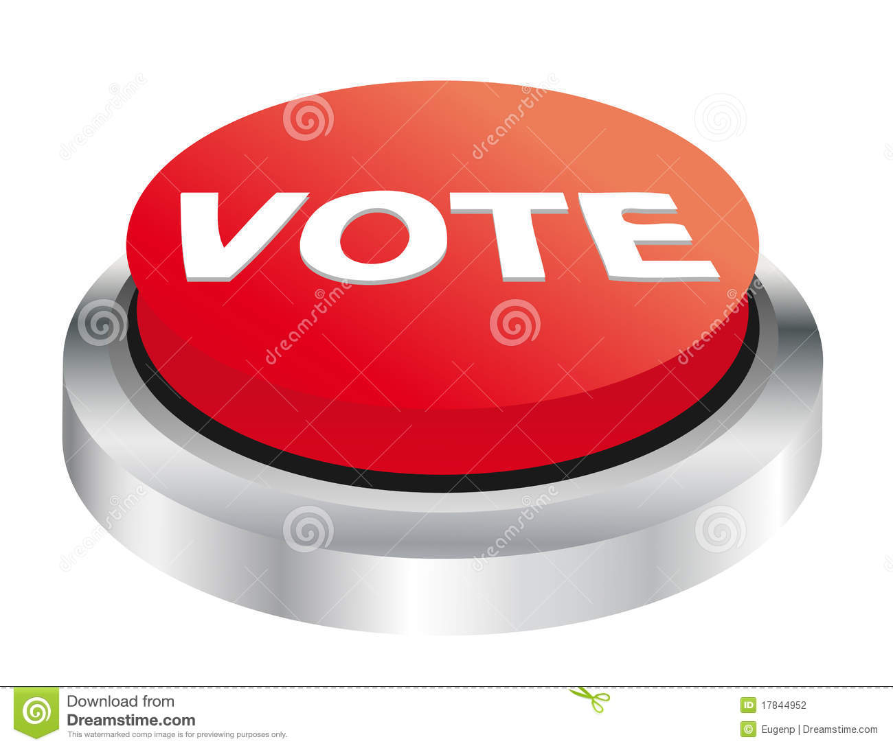 Vote Button Stock Photography - Image: 17844952