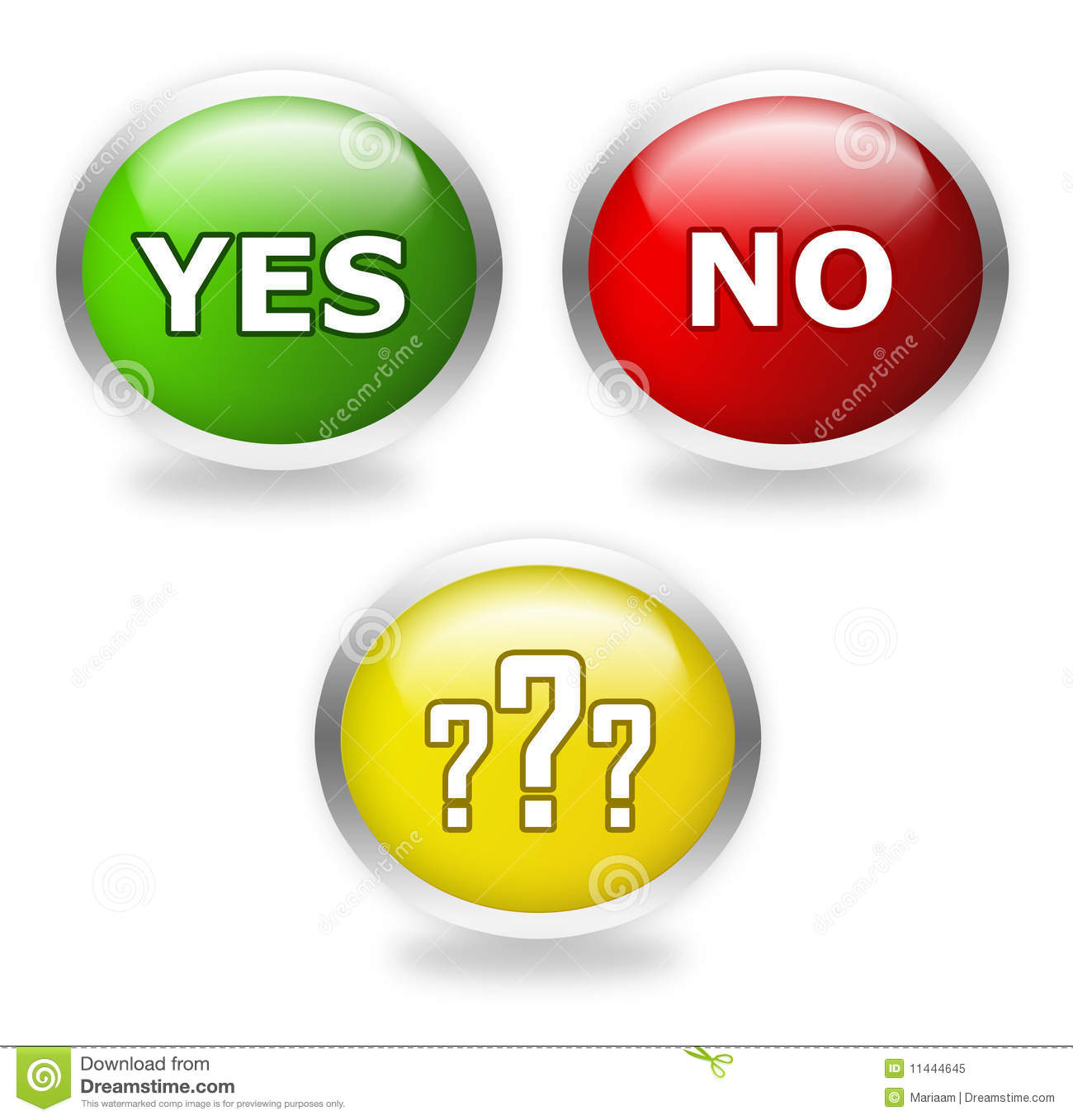 Vote Now: Yes, Maybe Or No Royalty Free Stock Photo ...
