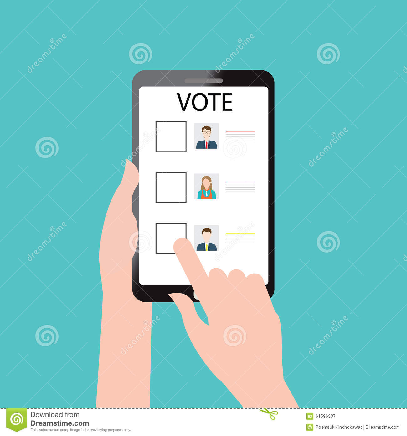 Vote online design stock vector illustration of poll for Make a blueprint free online