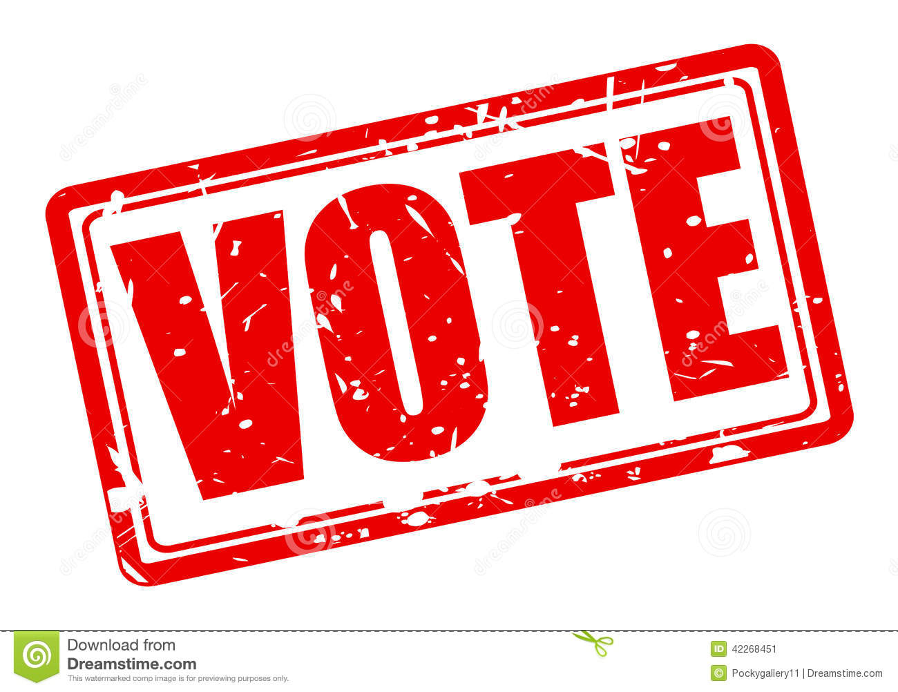 Vote Red Stamp Text Stock Vector - Image: 42268451