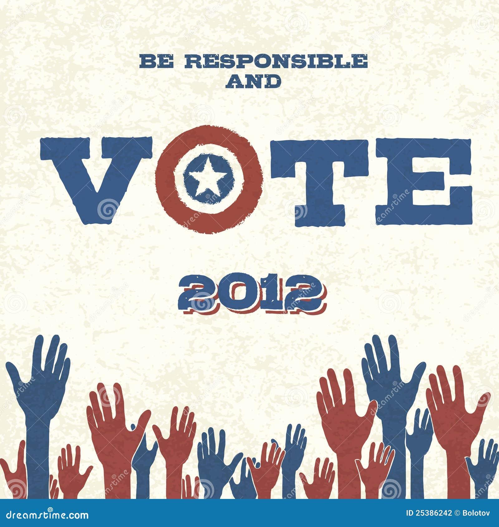 Vote! Retro Poster Stock Photography - Image: 25386242