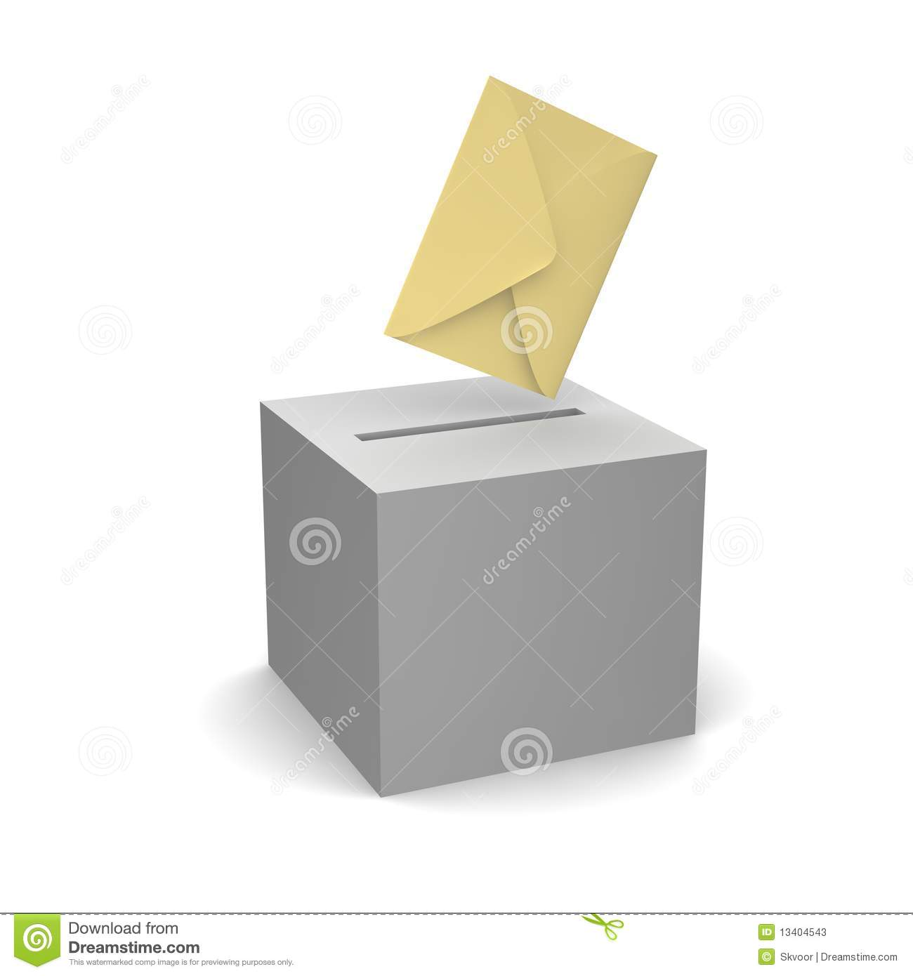 Vote Or Sending Letter Stock Illustration Illustration Of