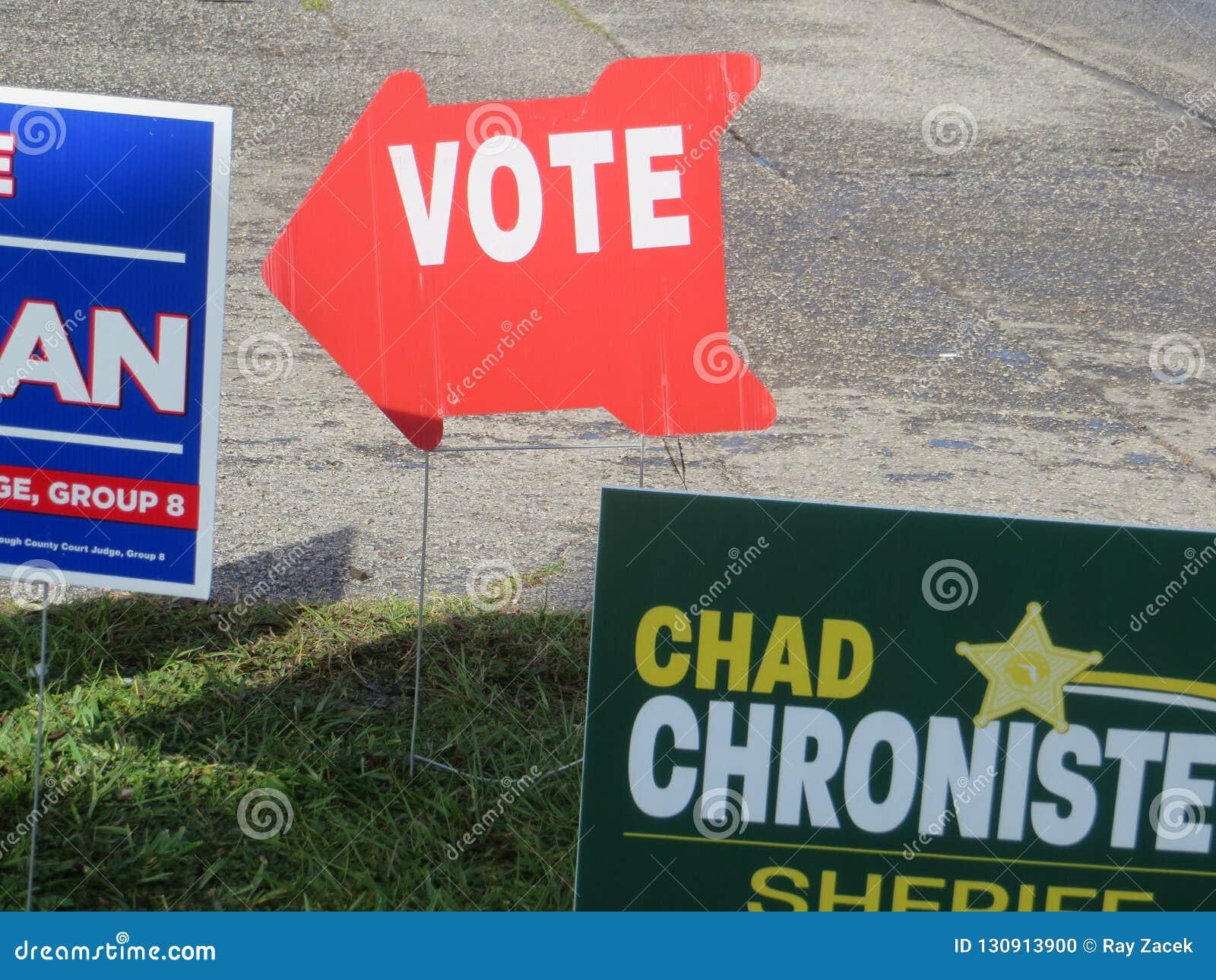 Vote sign, Florida