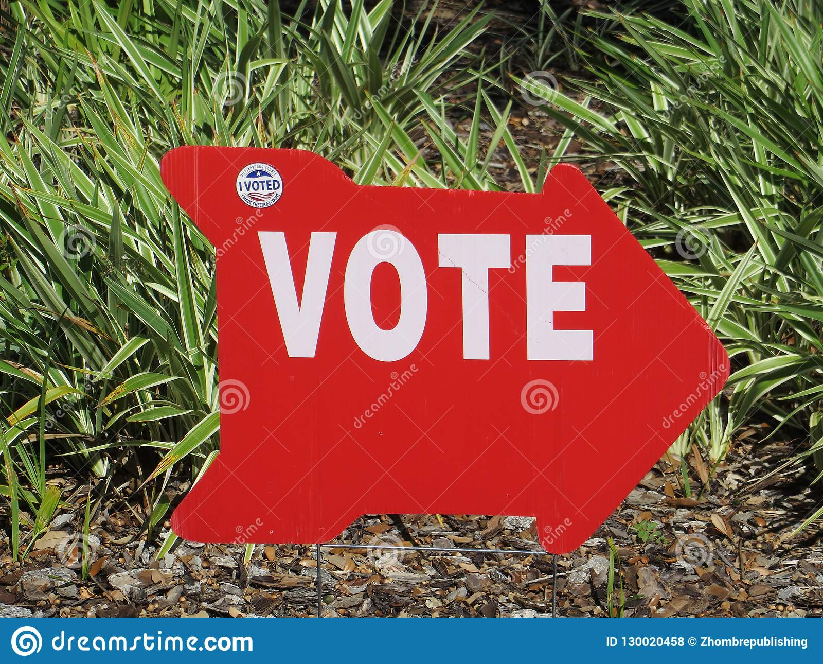 Vote sign, Tampa, Florida