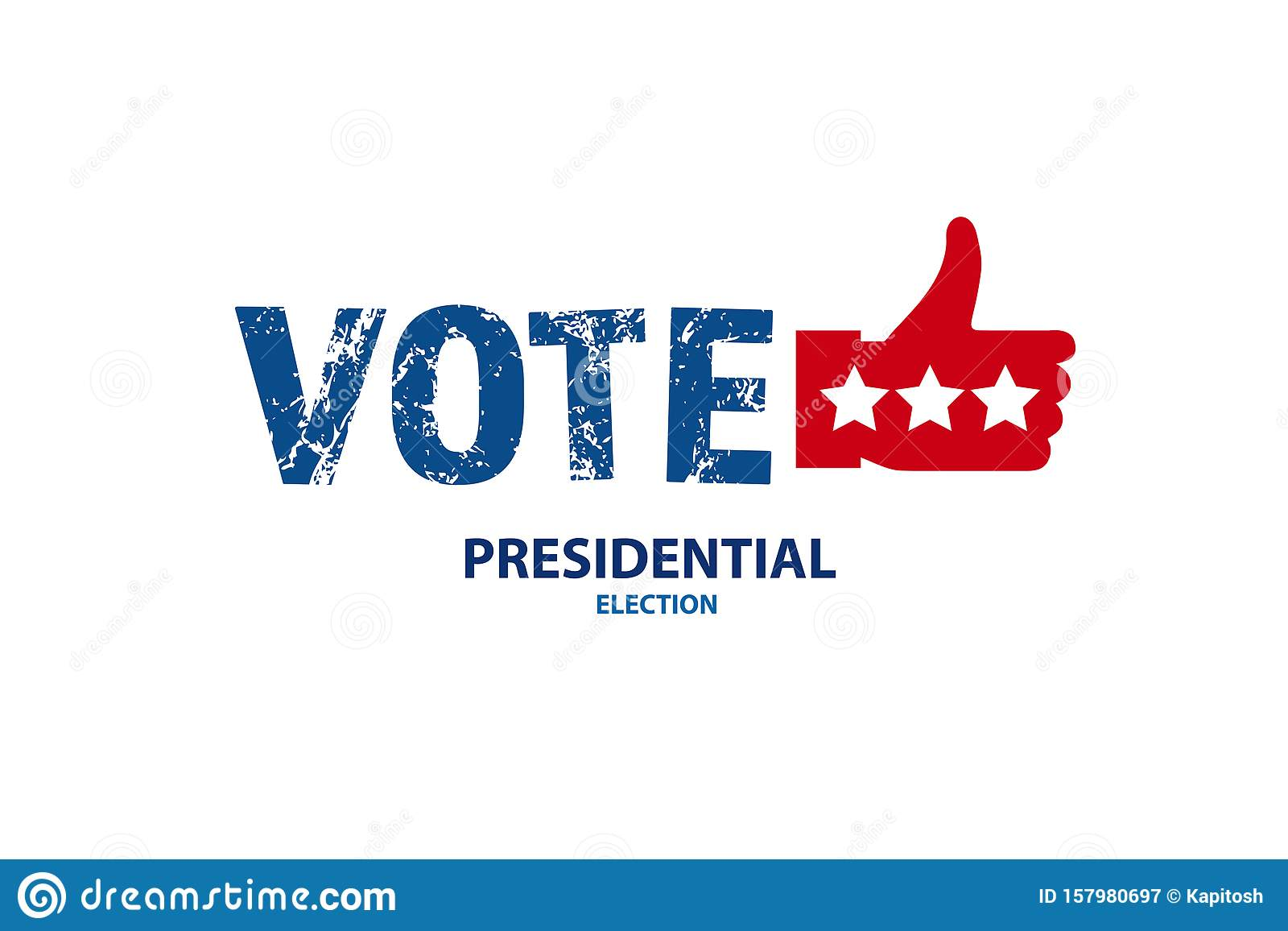 2020 Vote In Usa American President Banner Stock Vector