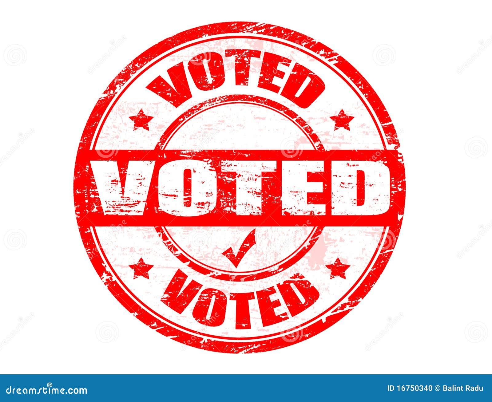 Voted Stamp Stock Photo