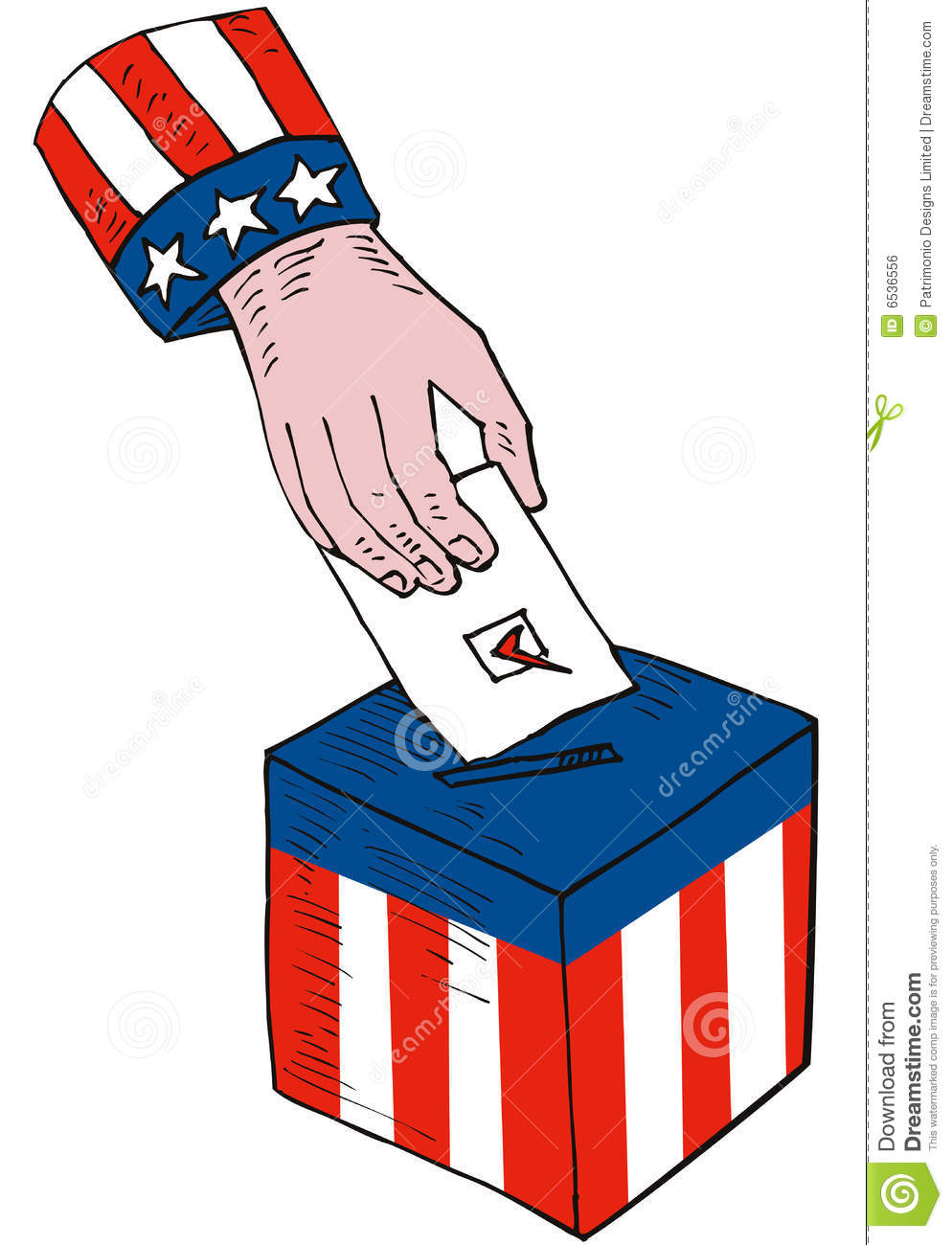 Voter's Hand And Ballot Box Royalty Free Stock Image ...