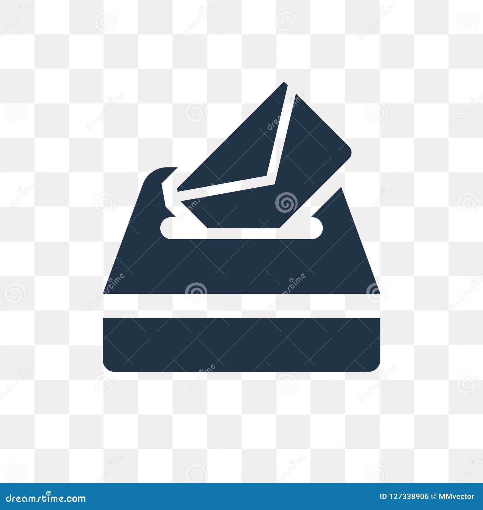 Votez l icône de vecteur d isolement sur le fond transparent, transport de vote