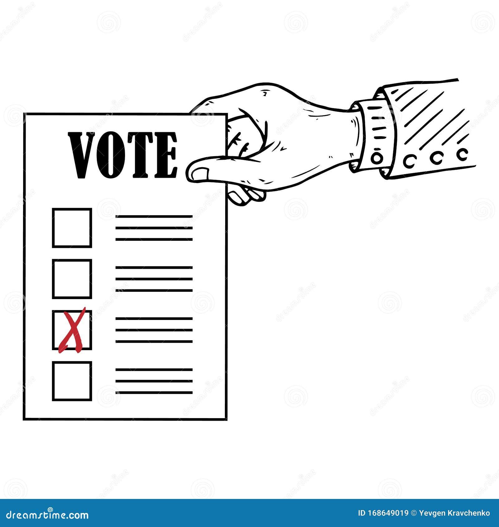 voting ballot form list icon vector illustration of