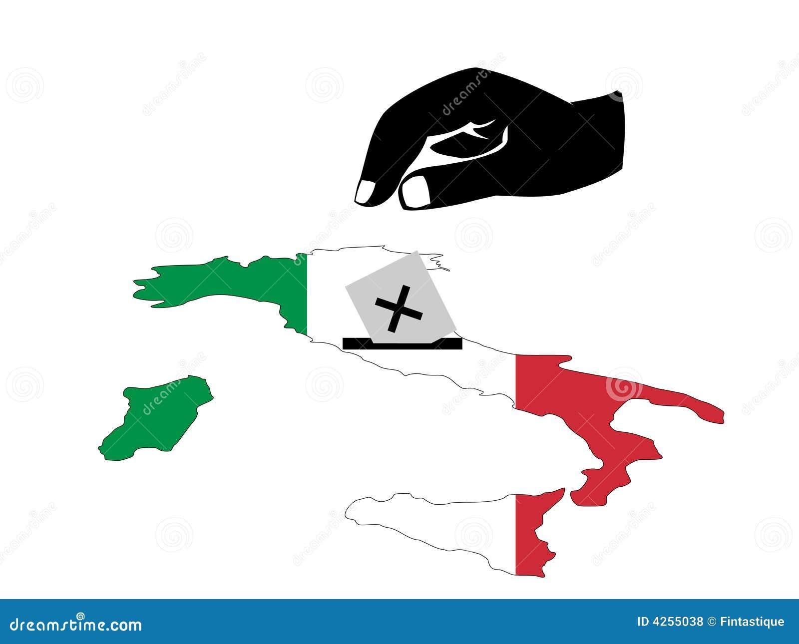 Voting in Italian election