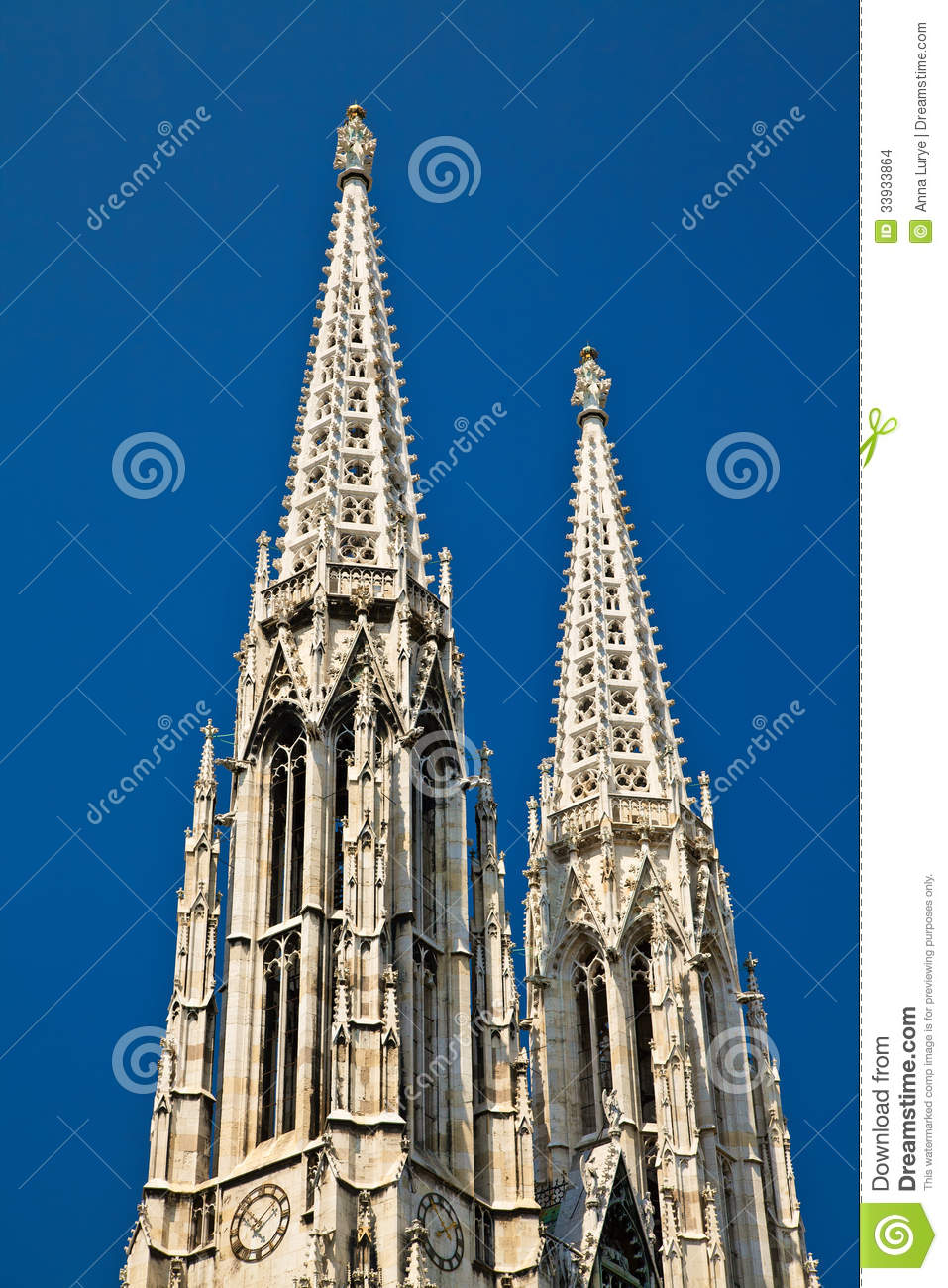 The Ring Vienna S Casual Luxury Hotel Vienna: Votive Church Stock Images