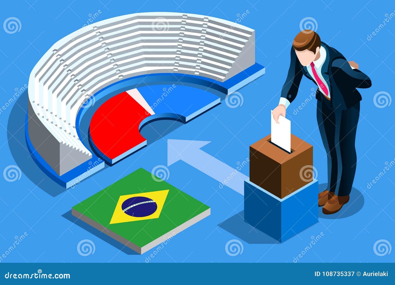 Voto brasileño Infographic de la elección del Brasil