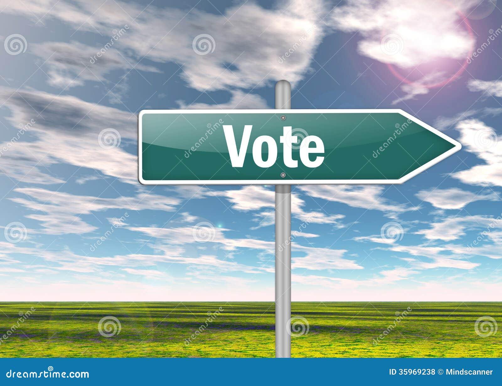 Voto del poste indicador
